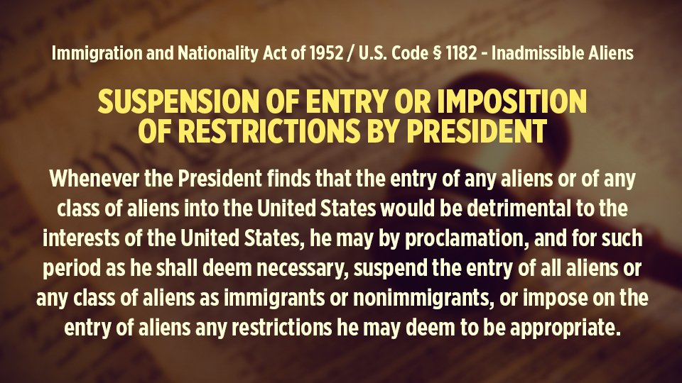 Suspension of Entry or Imposition of Restrictions by President