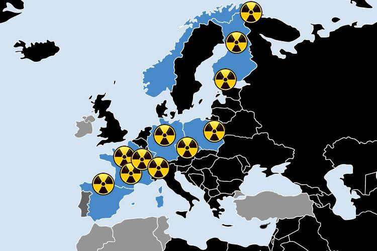 Alarming And Mysterious Rise Of Radiation Levels In Europe Baffles - Map of nuclear plants in us 2017