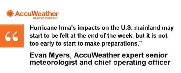 Evan's Irma quote on preparation